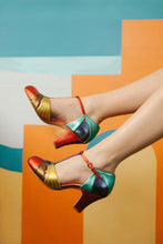 Hepworth multi colour metallic leather t bar shoes by Miss L Fire