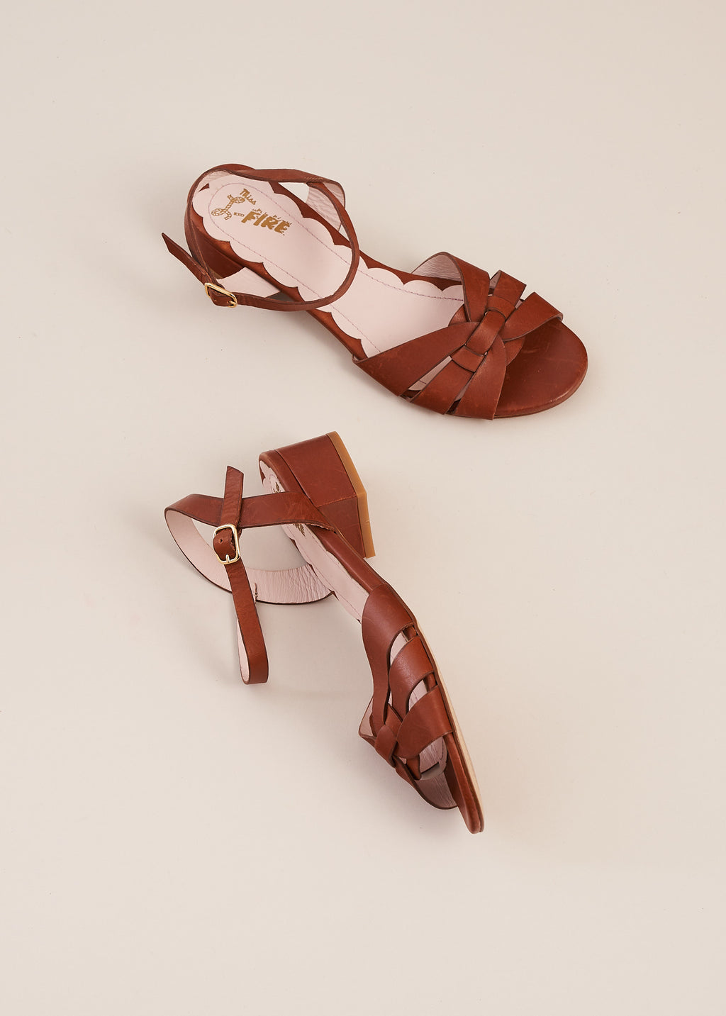 Isla Tan Low Heel Sandal