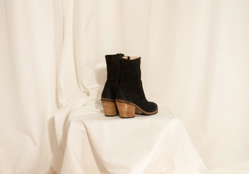 Jane Black Zip Ankle Boots