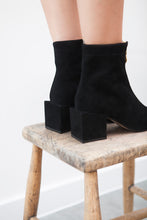 June Black Zip Up Ankle Bootie
