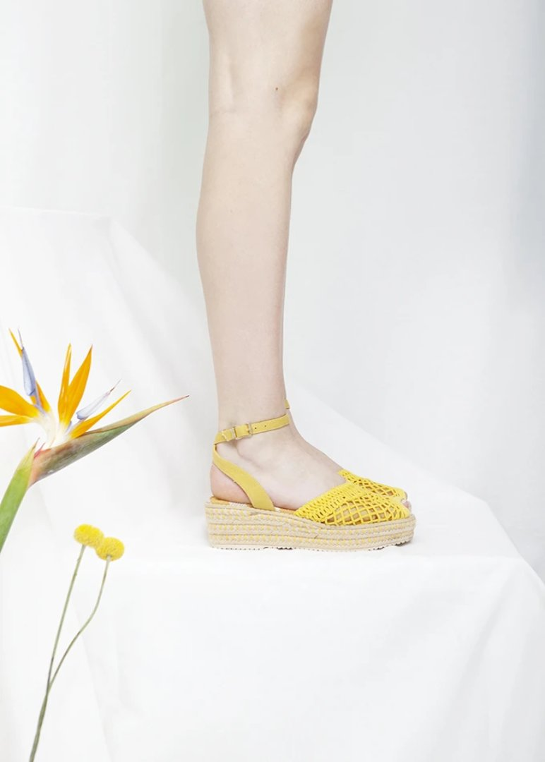 Toulouse Yellow Espadrille Sandal - LAST PAIRS
