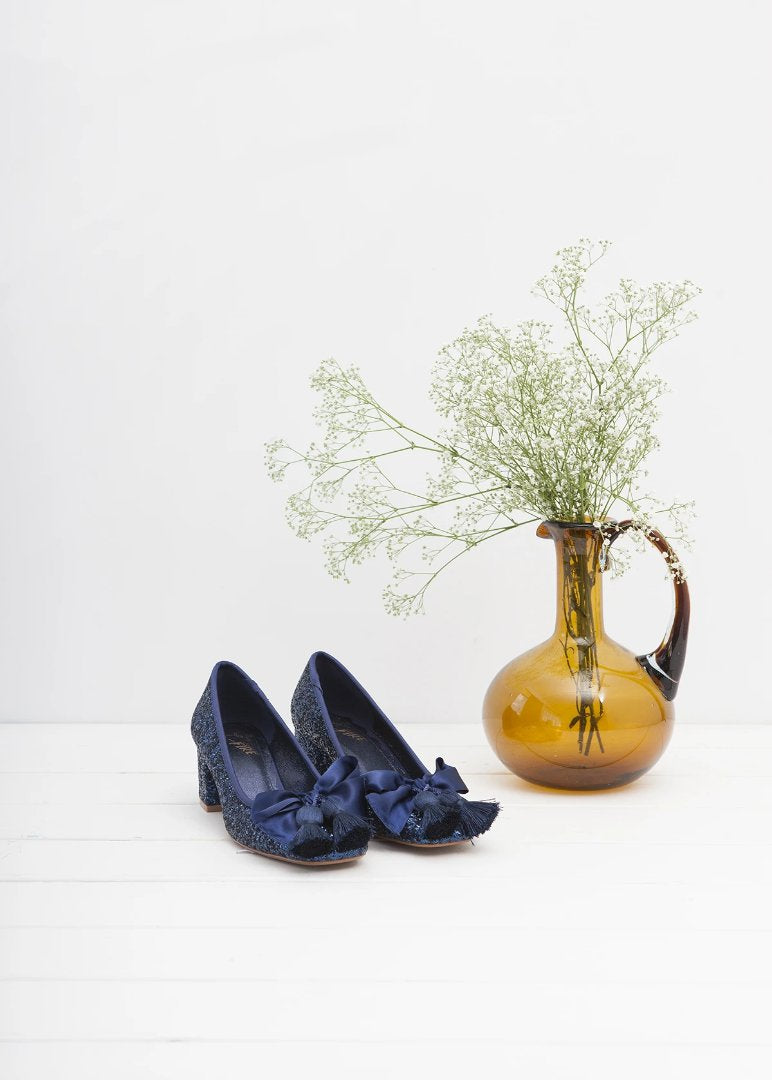 Sabrina Midnight Blue Glitter Pump