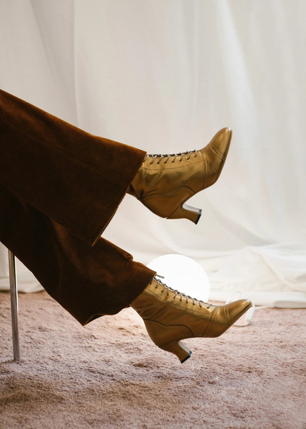Frida bronze metallic leather vintage inspired ankle boots by Miss L Fire