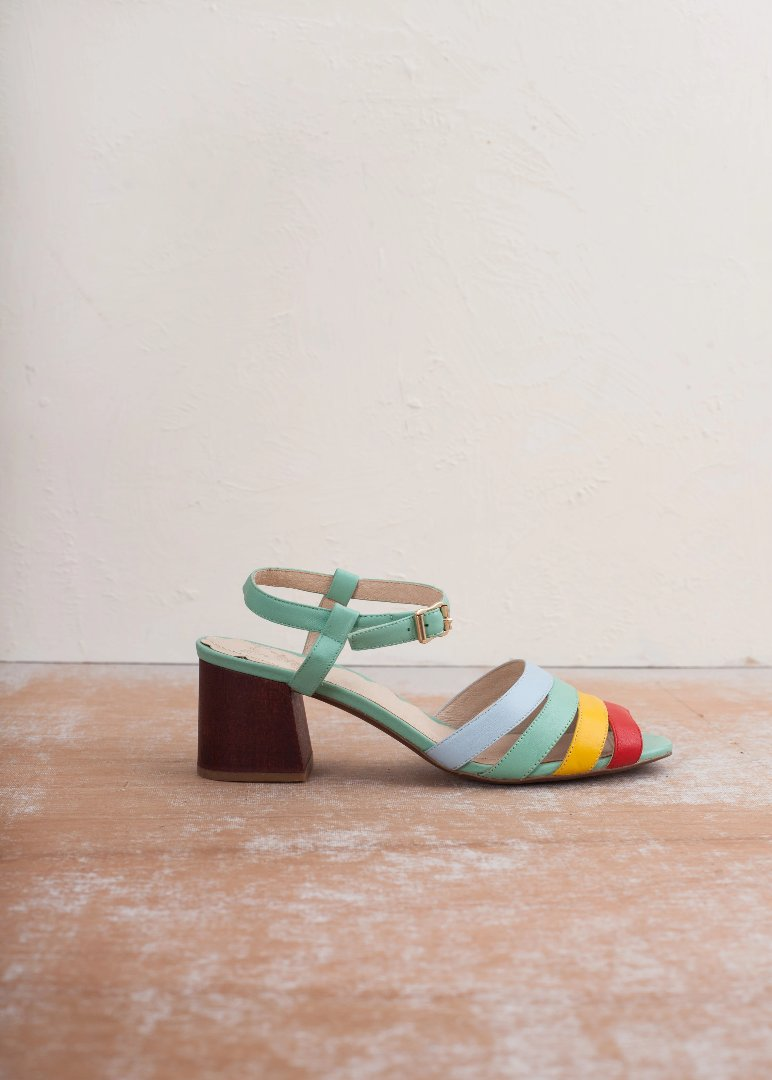 Harper Rainbow Leather Sandal