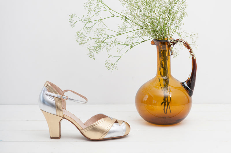 Grace Gold and Pewter Heels