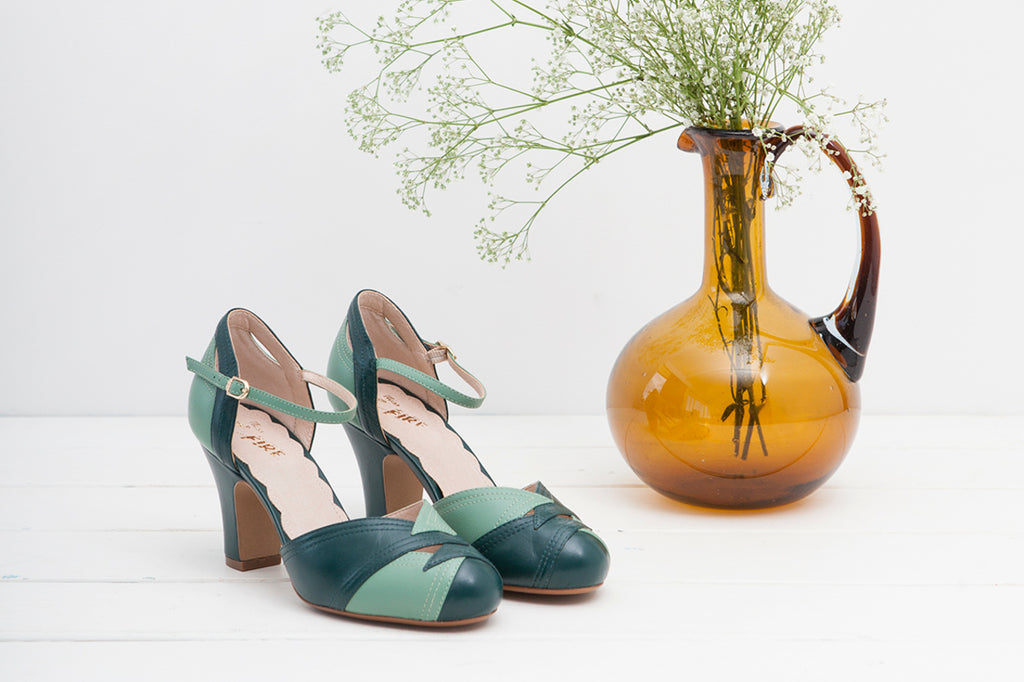 Grace Forest Green Heels - LAST PAIR SIZE 40