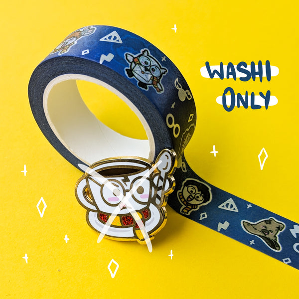 Wizarding World Of Beedoo Foiled Washi WA-003 | Handdrawn 15 mm Holo Foiled Washi Tape