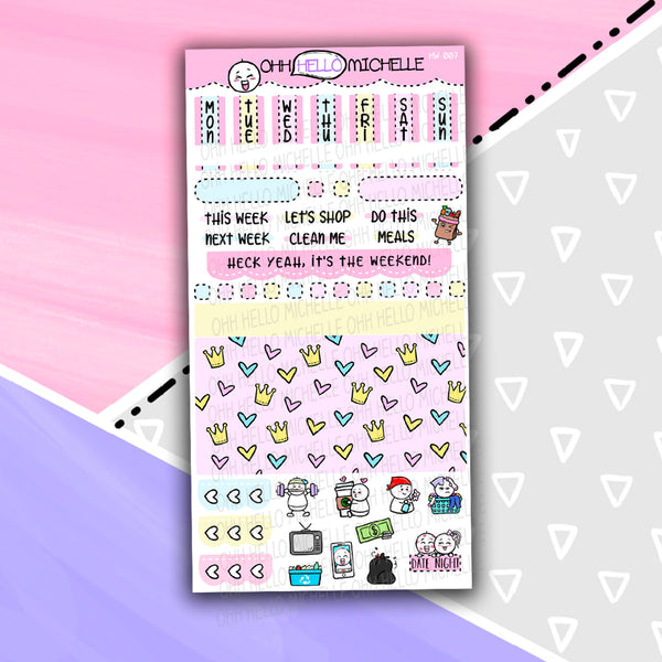Once Upon A Time HW-007 | Hobonichi Weeks | 1 Sheet Of Planner Stickers