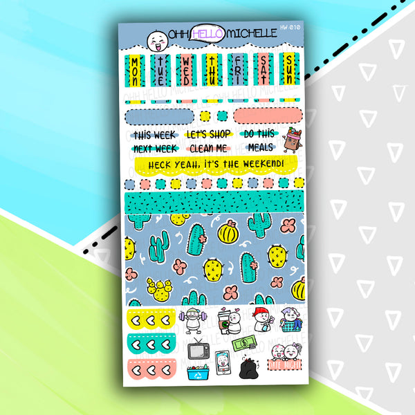 Can't Touch This HW-010 | Hobonichi Weeks | 1 Sheet Of Planner Stickers