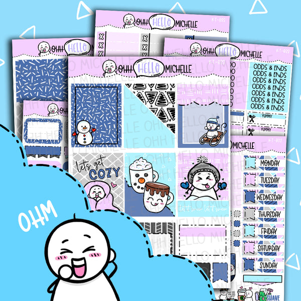 Winter Wonderland KT-033 | Sized for Erin Condren | Hand Drawn Planner Stickers