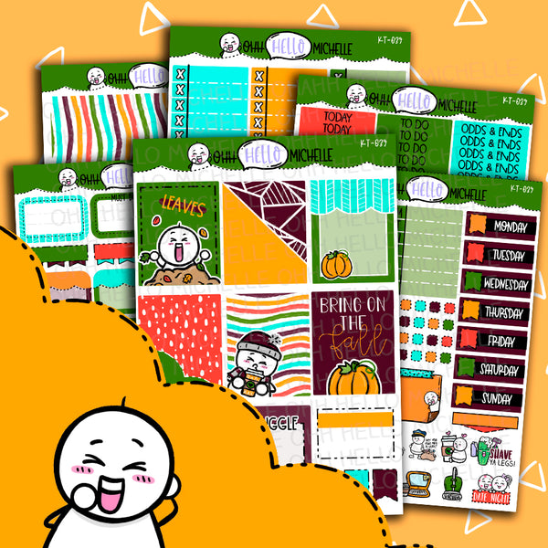 Bring On The Fall KT-039 | Sized for Erin Condren | Hand Drawn Planner Stickers