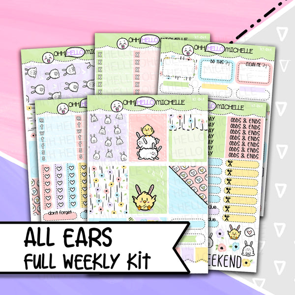 All Ears Full Weekly Kit KT-049 | 6 Half Sheets Of Planner Stickers