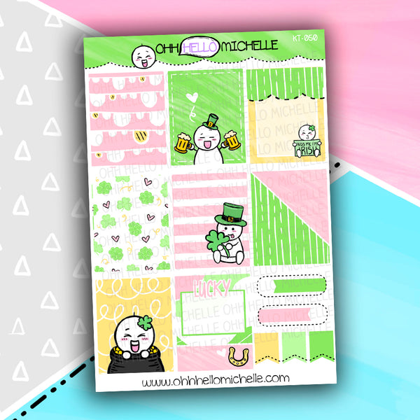 Get Lucky Full Boxes KT-050 | Half Sheet Of Planner Stickers
