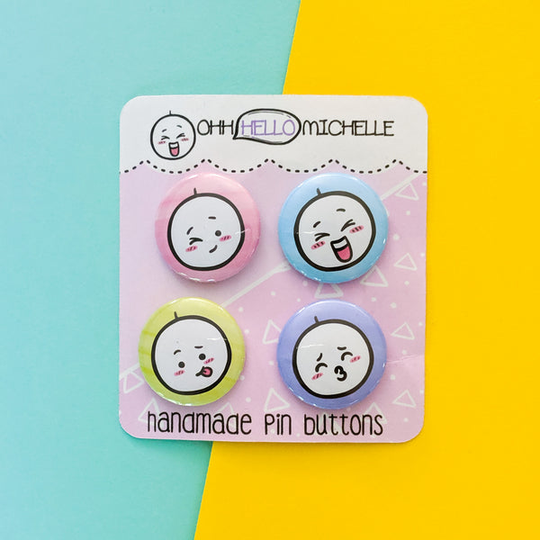 Beedoo Emotions Buttons BS-001 | Set of 4 Buttons