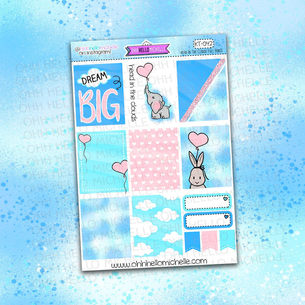 Head In The Clouds Full Boxes KT-0412 | Planner Stickers Sized for the ECLP