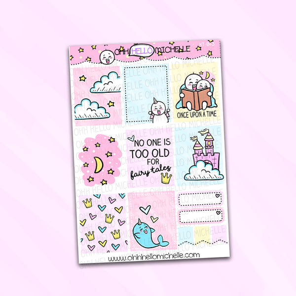 Once Upon A Time Full Boxes KT-043 | Planner Stickers Sized for the ECLP
