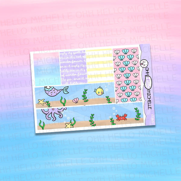 Ocean's Treasures Washi KT-044 | Planner Stickers Sized for the ECLP