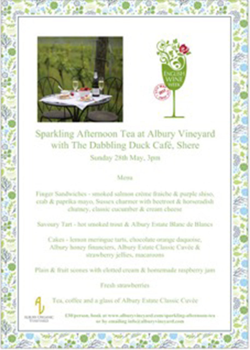 Sparkling Afternoon Tea at Albury Vineyard