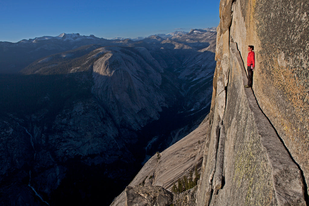 Alex Honnold rock climbing in Yosemite