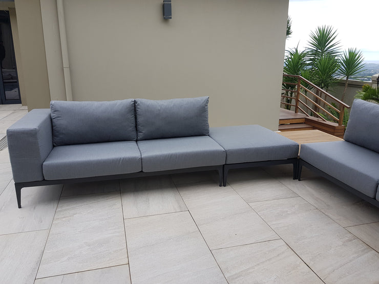Lima 3 Piece Corner Outdoor Sectional Set with Cushions (Colour Charcoal)