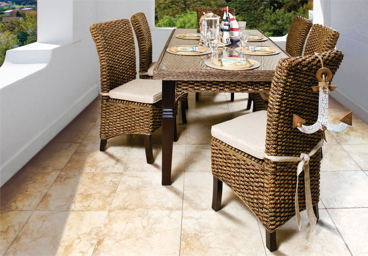 Astor 7 Piece Outdoor Dining Set without cushions (Colour Antique)