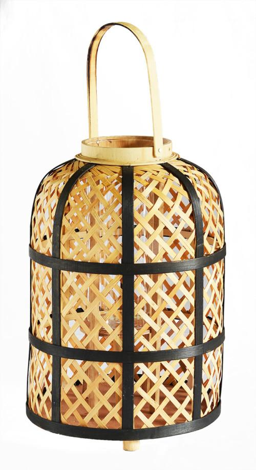 Bamboo Lantern (Colour Natural With Black Stripe) Bowl
