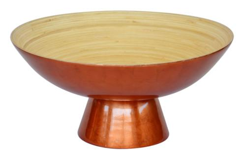 Bamboo Pedestal Bowl Large (Colour Copper) Bowl