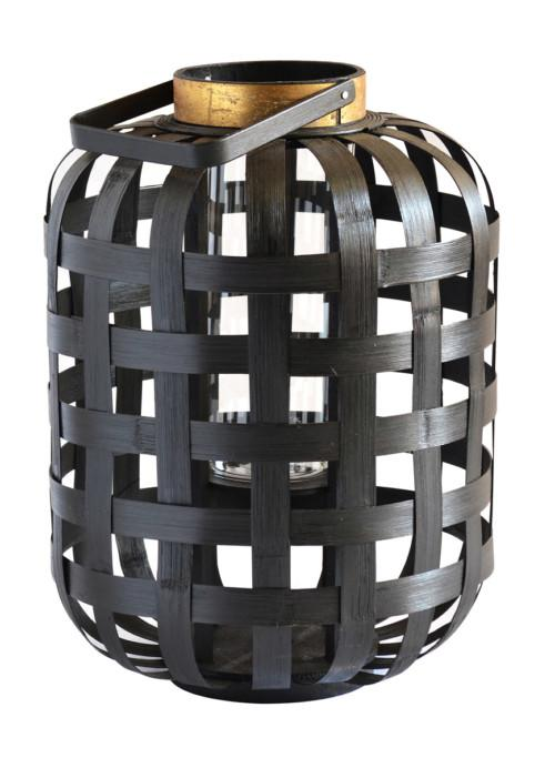 Bamboo Weave Lantern (Colour Black) Led Light Ball