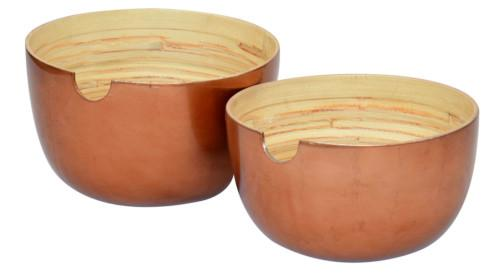 Bamboo Salad Bowl (Colour Copper) Bowl