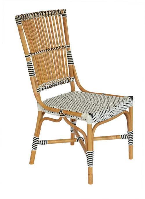 Banda Chair (Colour White With Black Dots) Occasional Chairs
