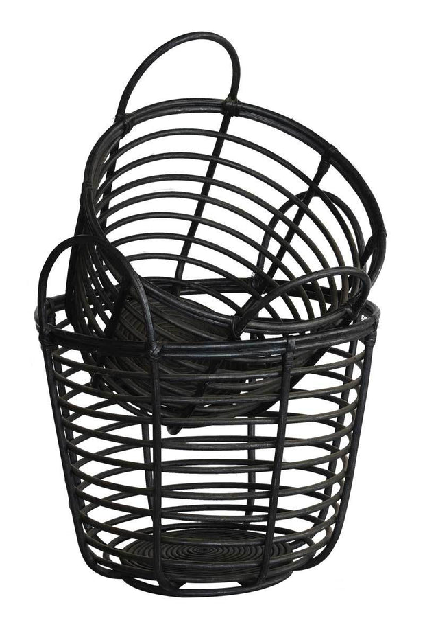 Basket Doctor Set Of 2 (Colour Black) Bowl