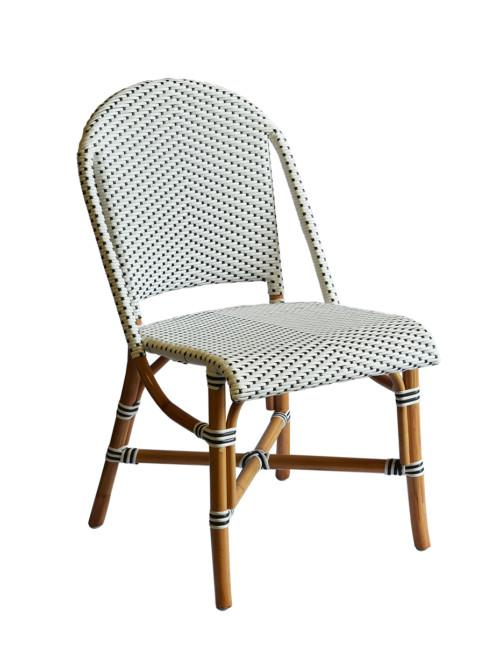 Bristo Chair (Colour White With Black Dots) Occasional Chairs