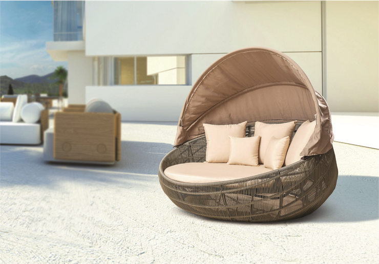 Cantelli Outdoor Daybed With Cushion (Colour Wood Series)