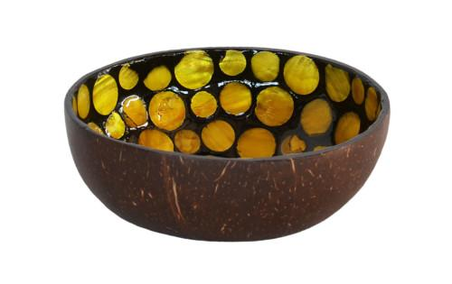 Coconut Bowl Kaleidoscope (Yellow) Bowl