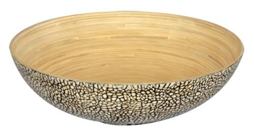 Eggshell Bamboo Bowl (Colour Black) Bowl