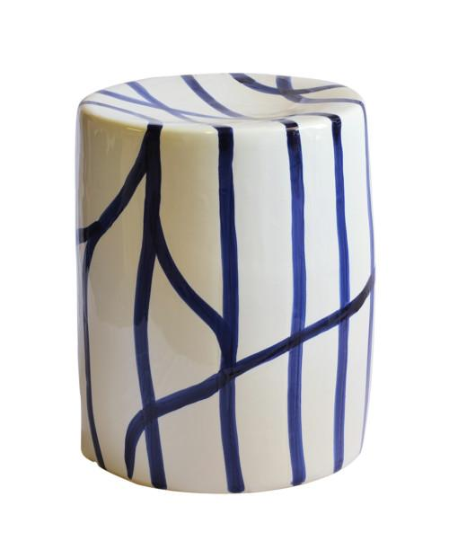 Garden Stool Willow (Colour Blue & White)
