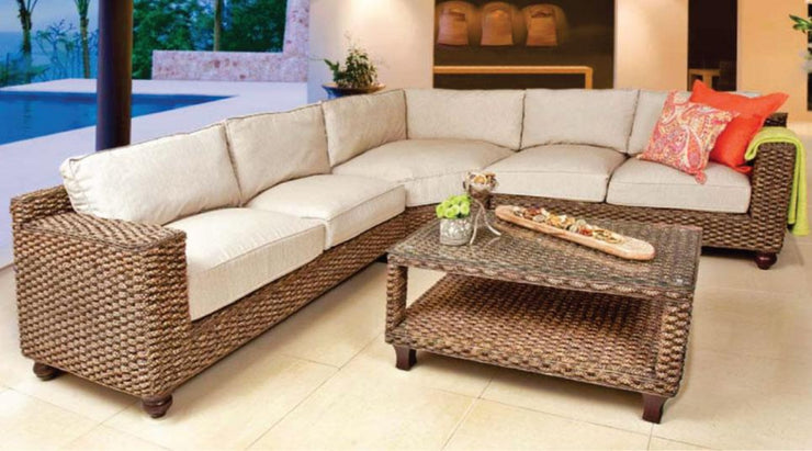 Java 3 Piece Corner Outdoor Sectional Set MAXI with Cushions (Colour Antique)