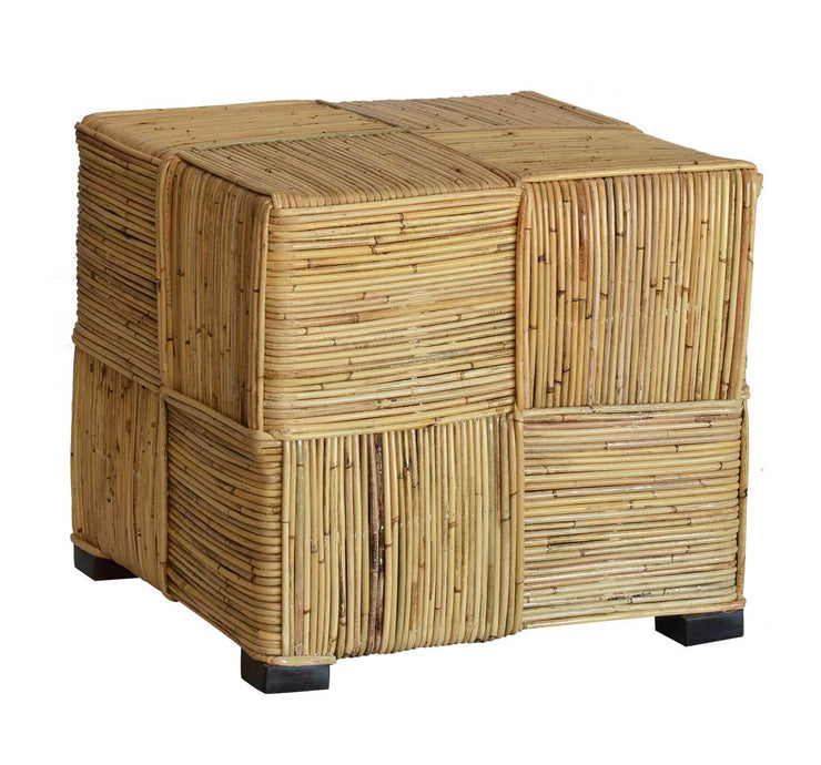 Tru Outdoor Luxury Kubu Square Stool without Cushion (Color Natural) product_description Stools & Benches.