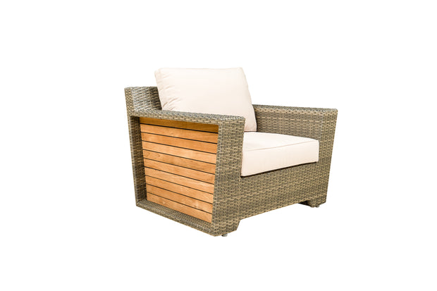 Lamar 4 Piece Patio Lounge Set with Cushions (Color Stone)