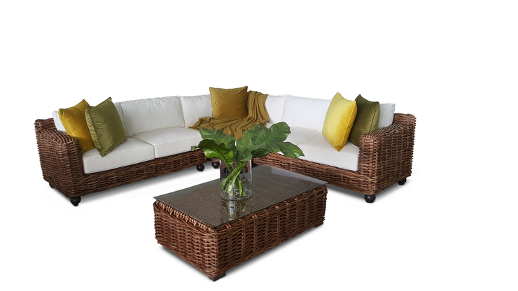 Lugo 4 Piece Modular Corner Set With Cushions (Colour Antique) Lounge