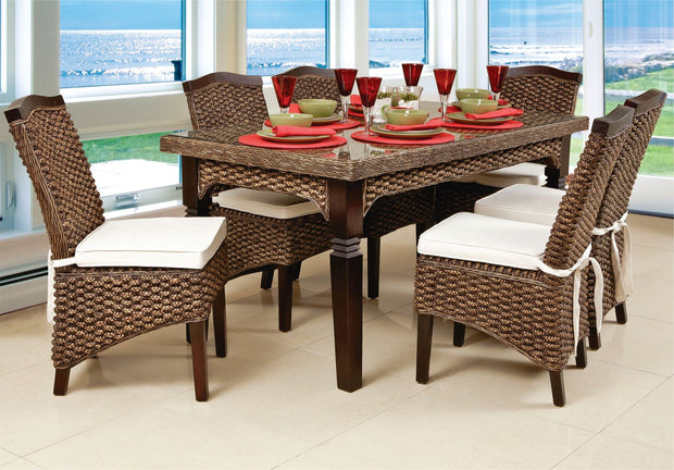 Maestro 7 Piece Outdoor Dining Set without cushions (Colour Antique)