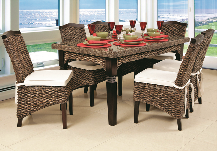 Maestro 9 Piece Outdoor Dining Set Without Cushions (Color Antique)