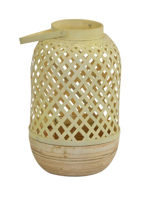 Mop Bamboo Lantern (Colour Cream) Led Light Ball