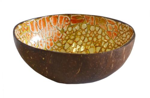Mop Coconut Eggshell Bowl (Colour Orange) Bowl