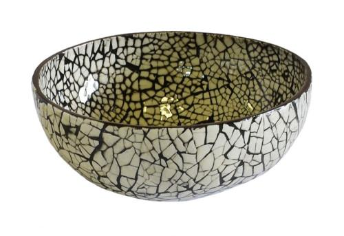 Mop Eggshell Snake Skin Bowl (Colour White) Bowl