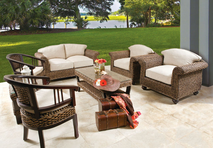 Nash 4 Piece Outdoor Lounge Set with Cushions (Colour Antique)