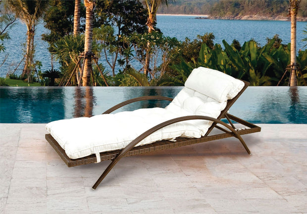 Orbit Outdoor Sun Lounger without cushion (Colour Wood Series)