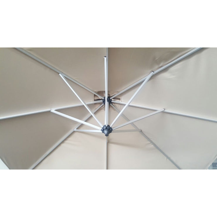 Palazzo Cantilever Umbrella 3m Square Canopy with MOVABLE Base (with Tilt)
