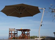 Palazzo Cantilever Umbrella 3.2m Round Canopy with IMMOVABLE Base (Non-Tilt)
