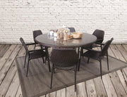 Panterra 7 Piece Round Outdoor Dining Set without cushions (Colour Wood Series)